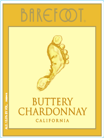 Barefoot Buttery Chardonnay 750ML image number 3